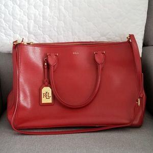 Ralph Lauren large newbury double zip satchel